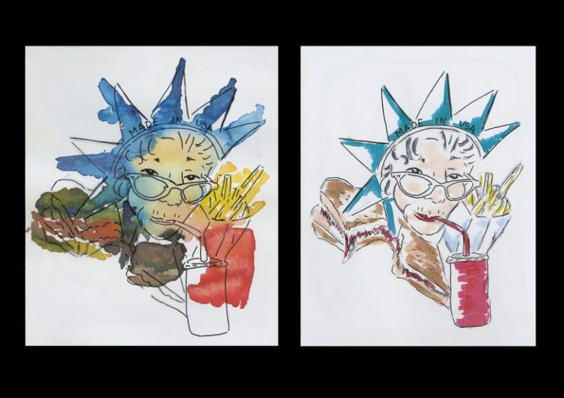 Ilustration - American Food 1