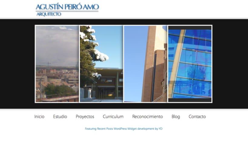 Agustin Peiro Web (Wordpress) 1
