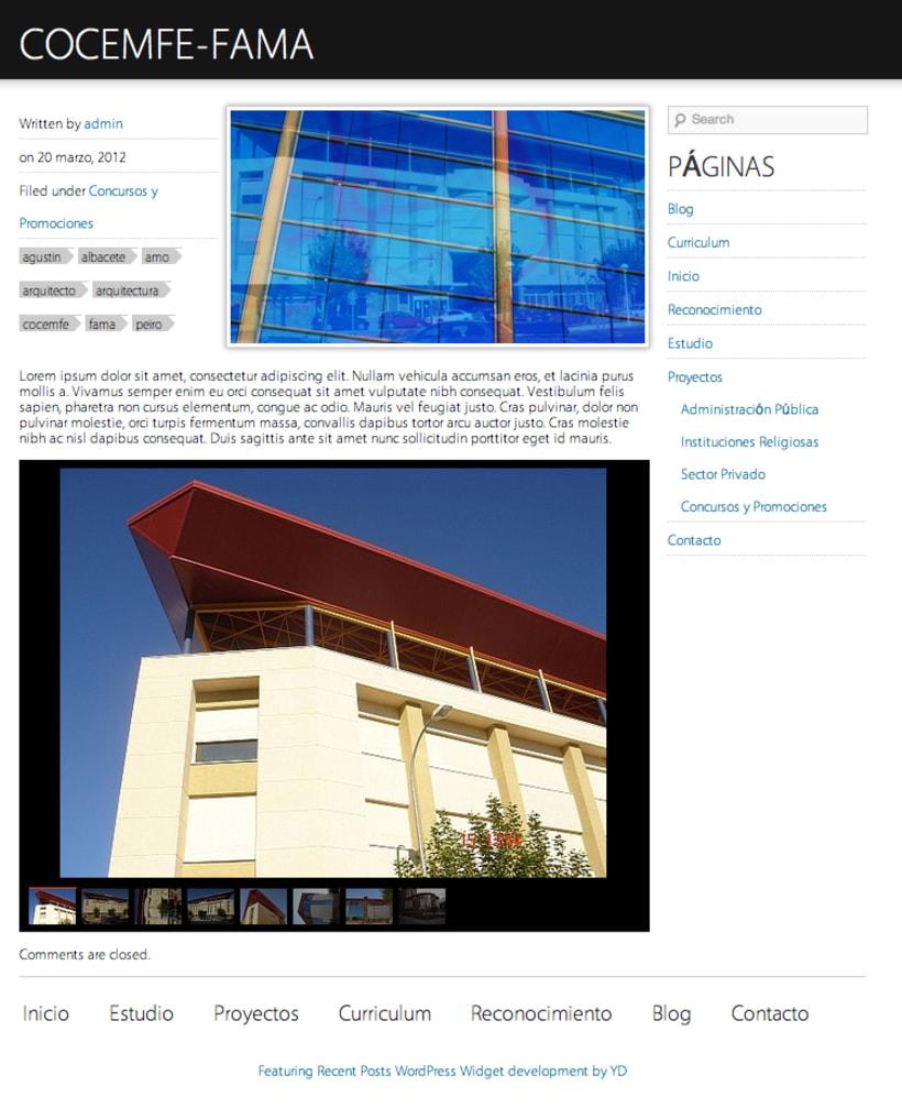 Agustin Peiro Web (Wordpress) 2