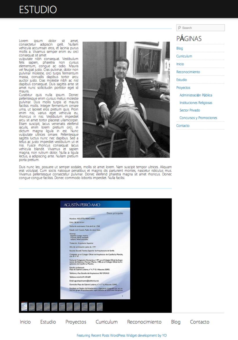 Agustin Peiro Web (Wordpress) 3