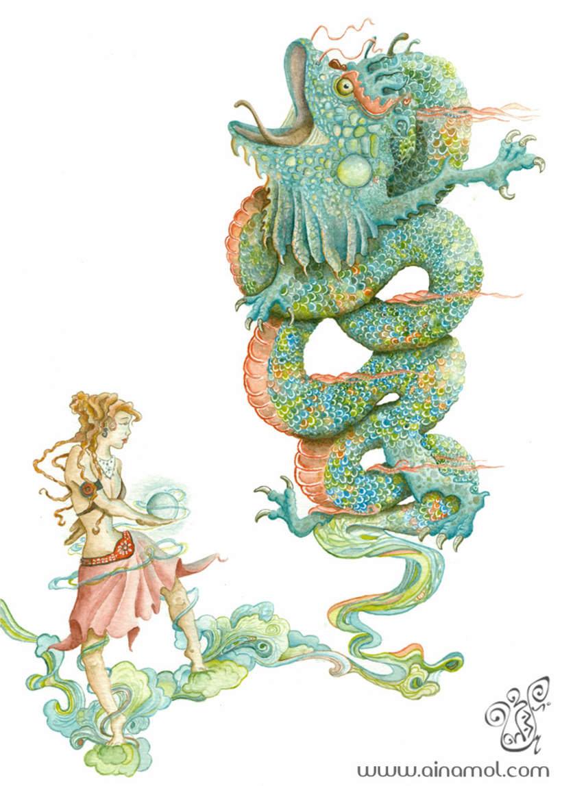 Ilustración fantástica (tradicional) 1
