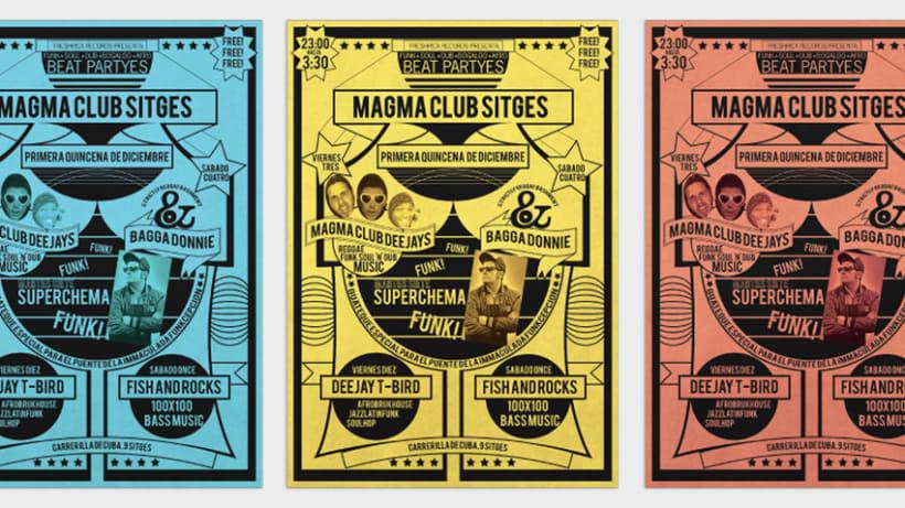 Serie de carteles Magma Club 3
