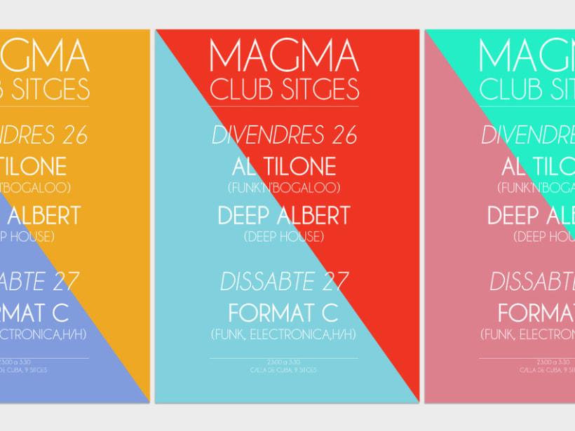 Serie de carteles Magma Club 4