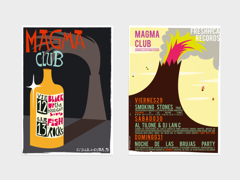 Serie de carteles Magma Club 6