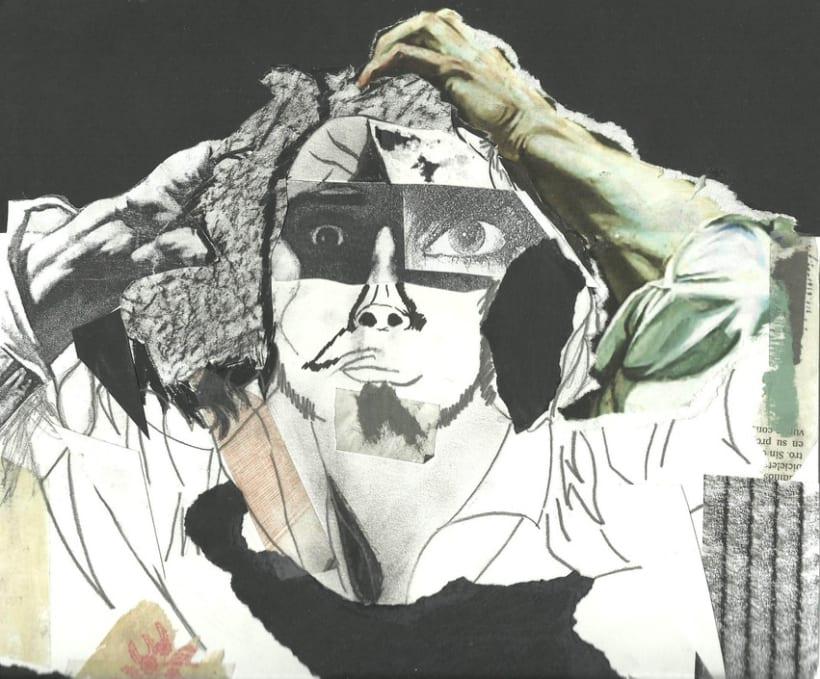 Collage autorretrato Dalí 1