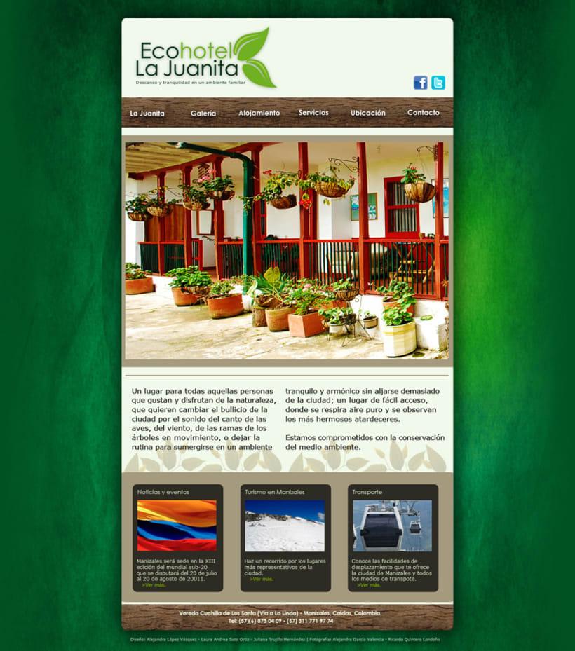 Web Ecohotel La Juanita 1
