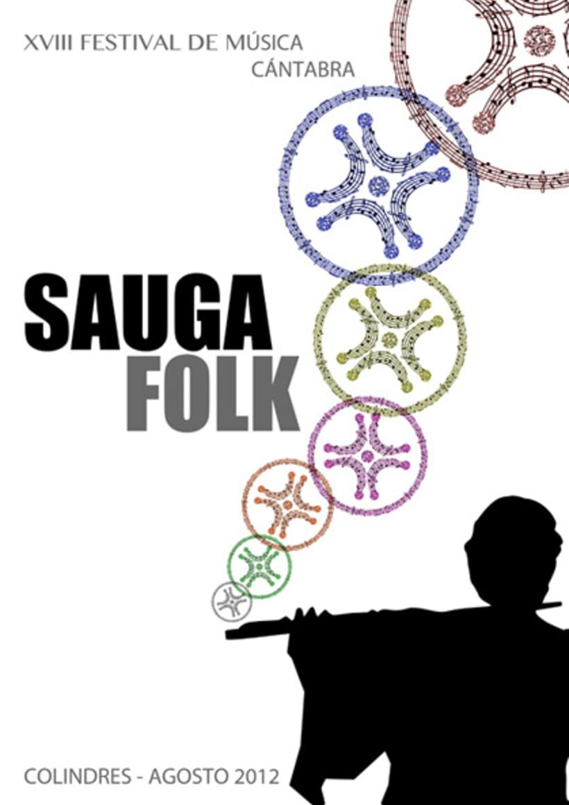 TERCER PREMIO cartel Sauga Folk 2012 2