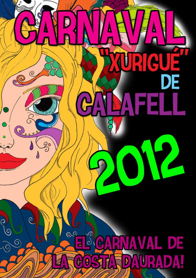 Cartel Carnaval 2012 Calafell 2