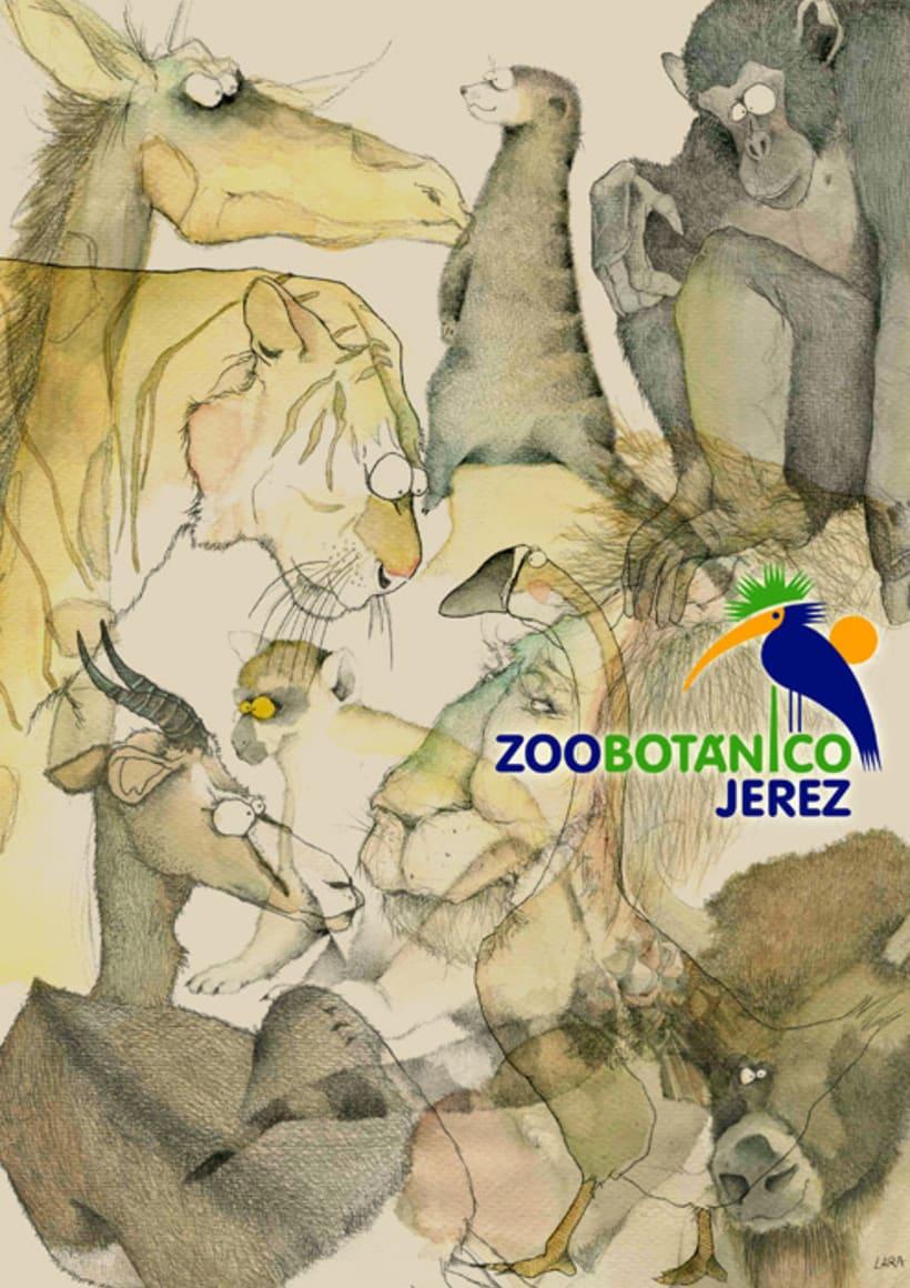 Ilustración animales del Zoo (Jerez) 23