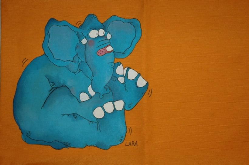 Dibujo sobre textil 7
