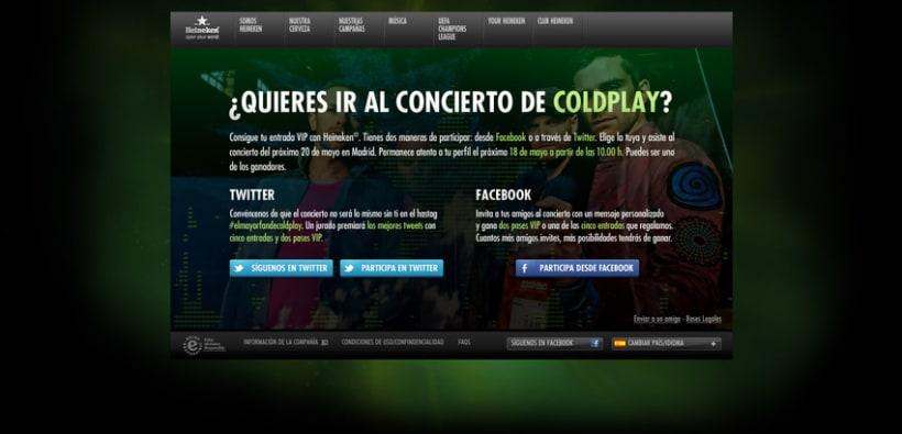 Landing Heineken Coldplay 1