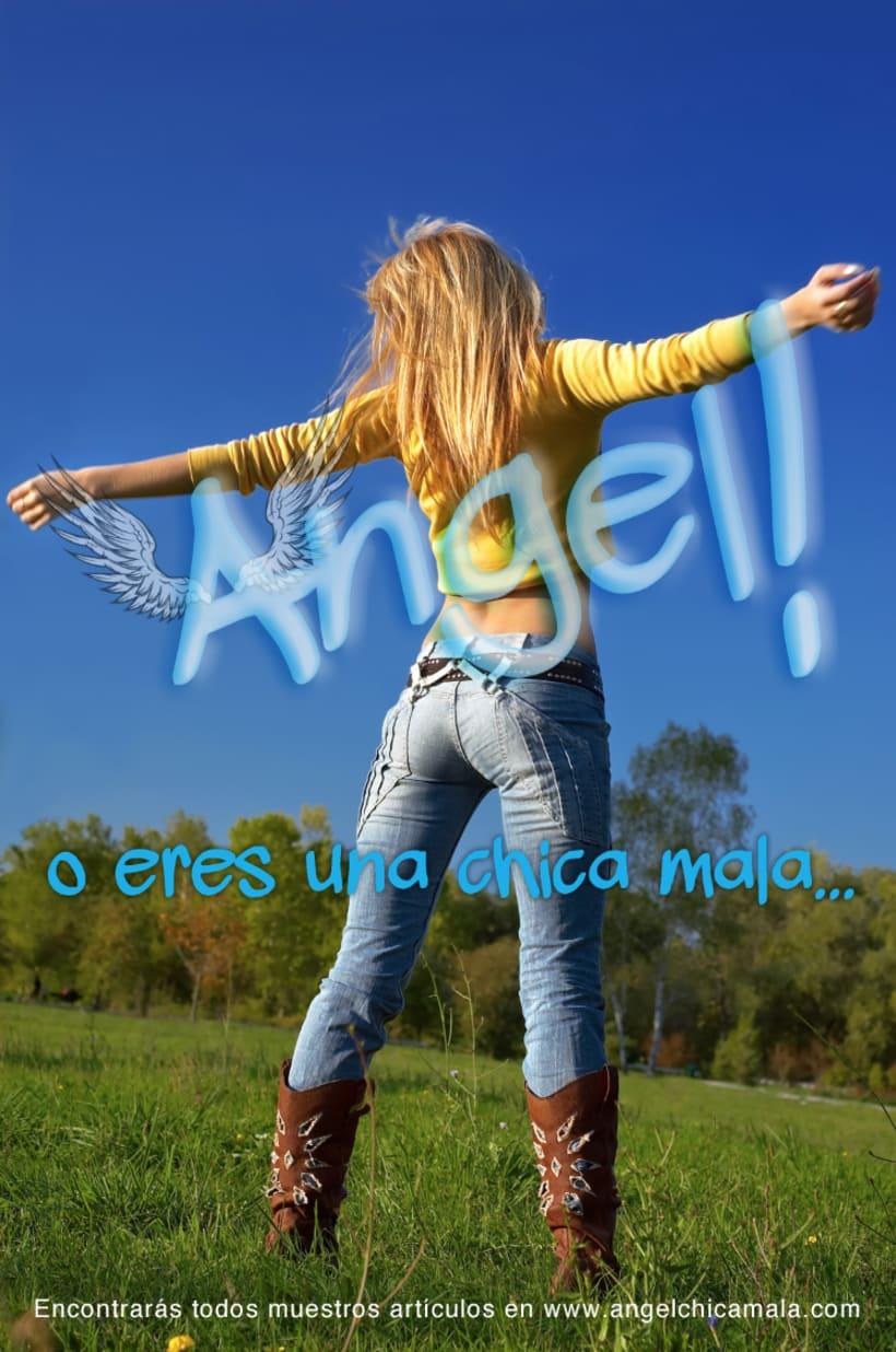 Angel: Logotipo y carteles para Chica Mala 2