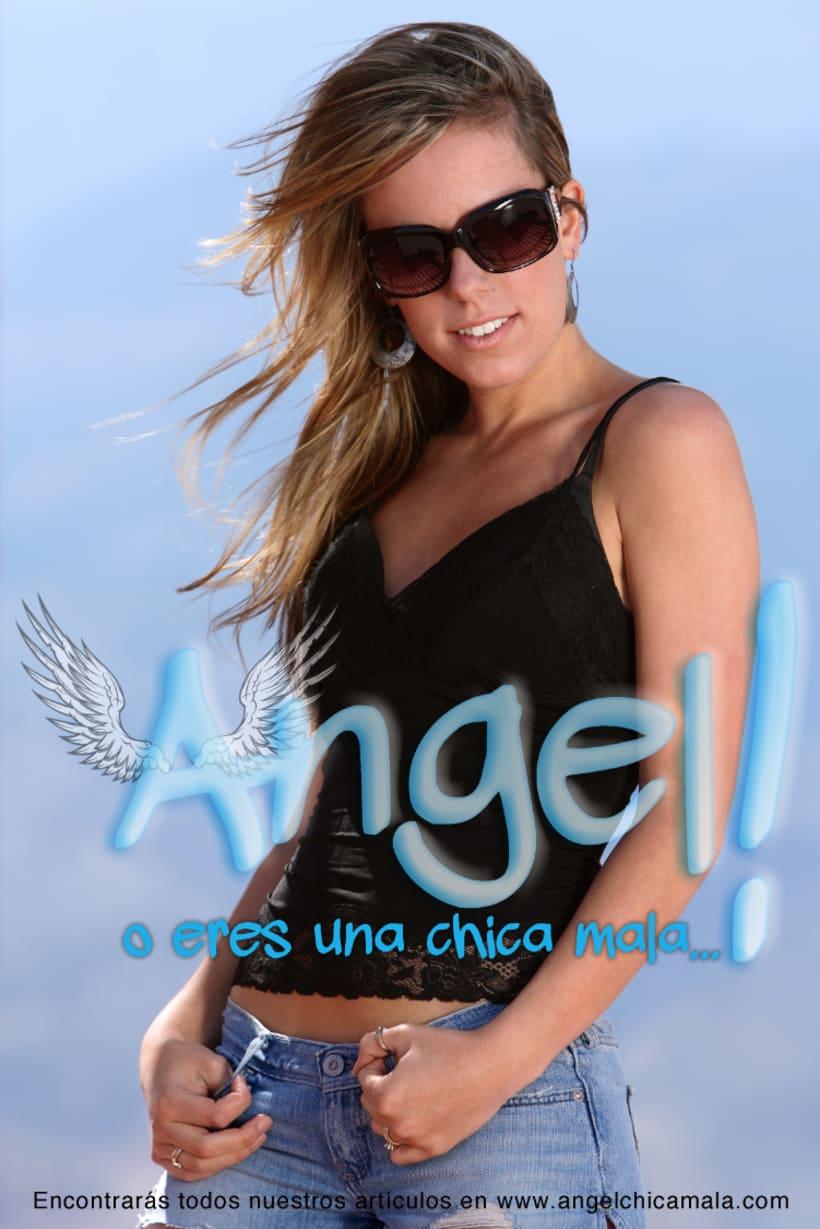 Angel: Logotipo y carteles para Chica Mala 3