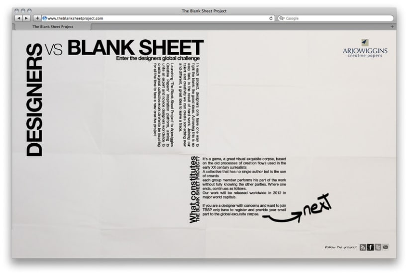 Designers vs Blank Sheet 2