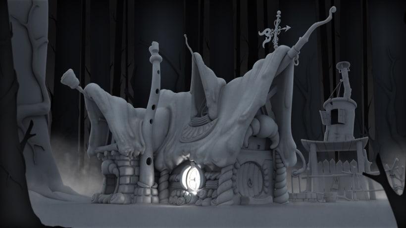 La casita de chocolate  (Hansel y Gretel) 3