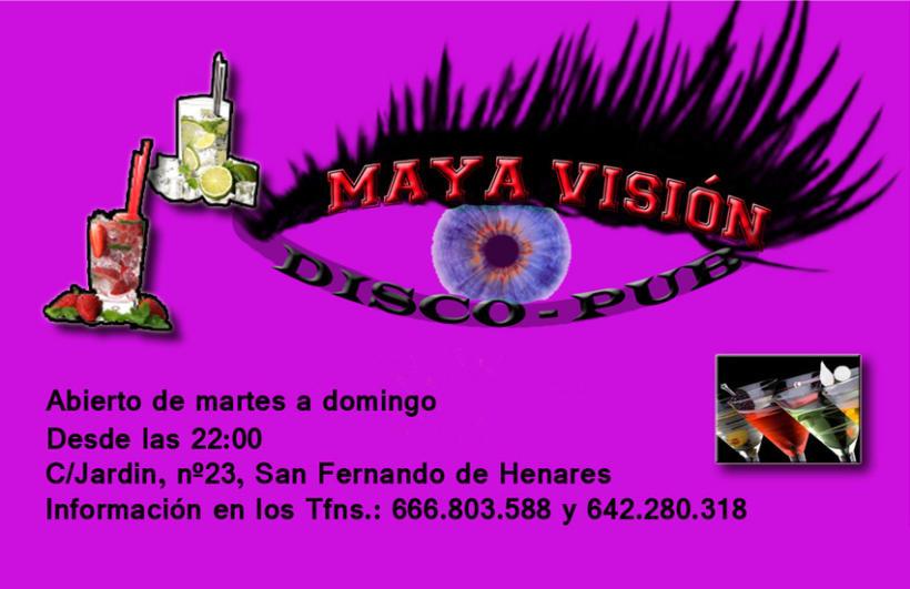 Tarjetas presentación Maya Visión 7