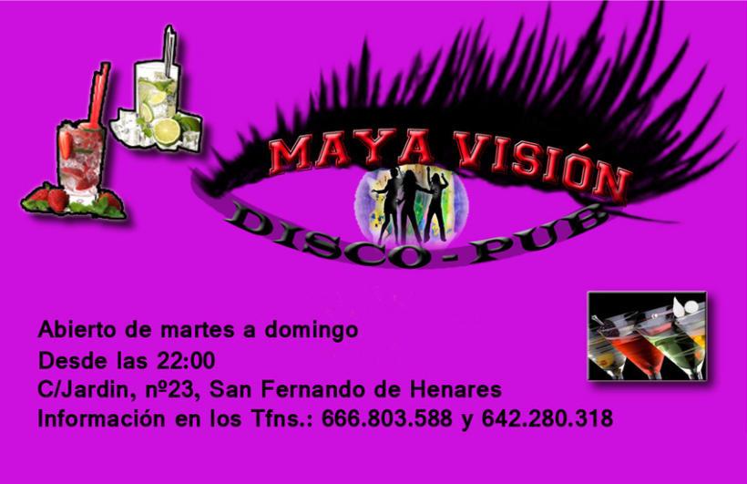 Tarjetas presentación Maya Visión 6