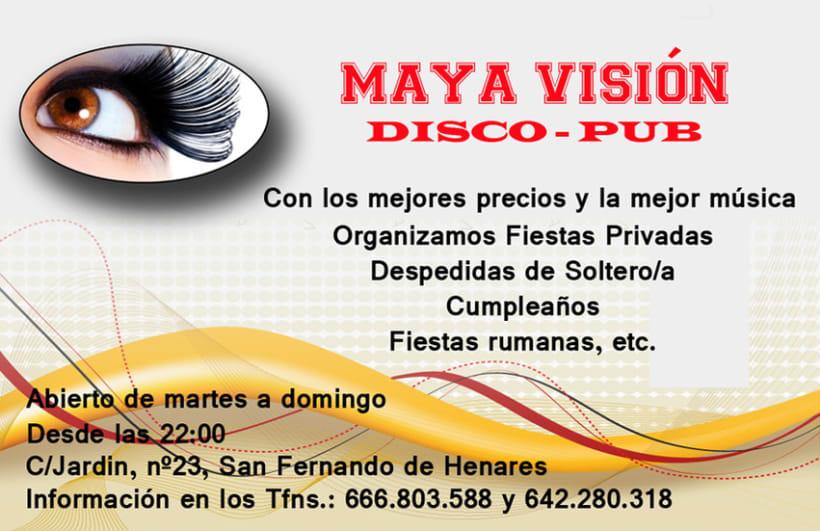 Tarjetas presentación Maya Visión 5