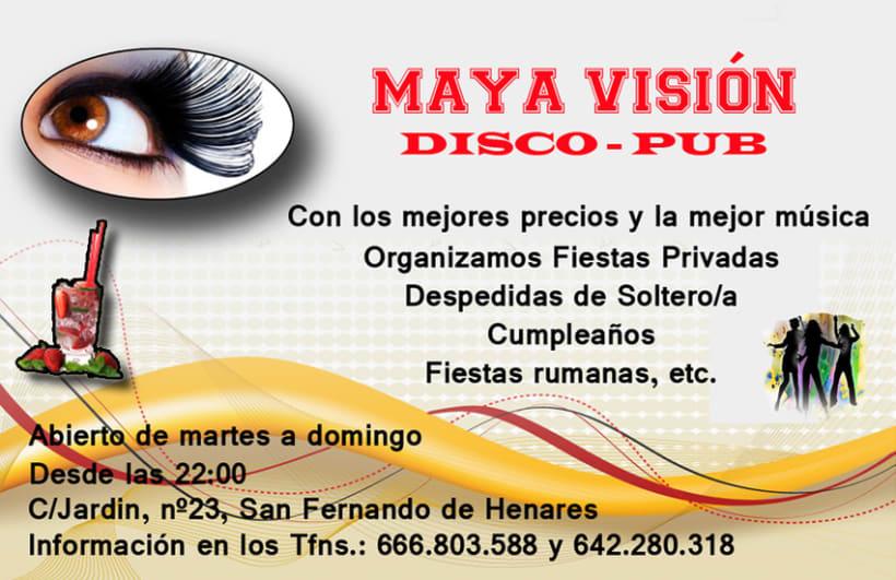 Tarjetas presentación Maya Visión 4