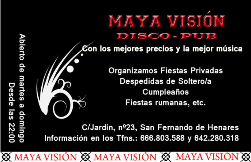 Tarjetas presentación Maya Visión 3