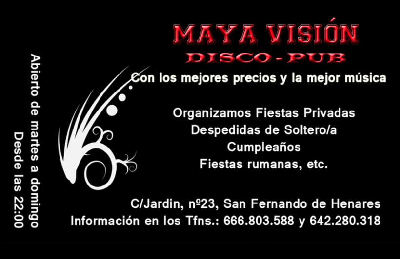 Tarjetas presentación Maya Visión 2