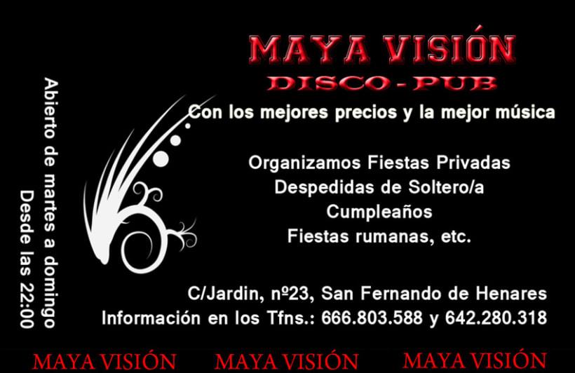 Tarjetas presentación Maya Visión 1