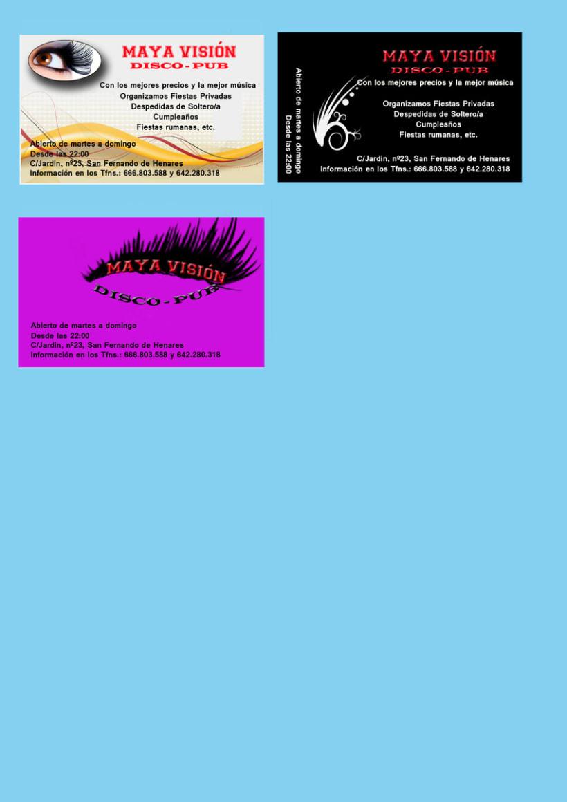 Tarjetas presentación Maya Visión 8