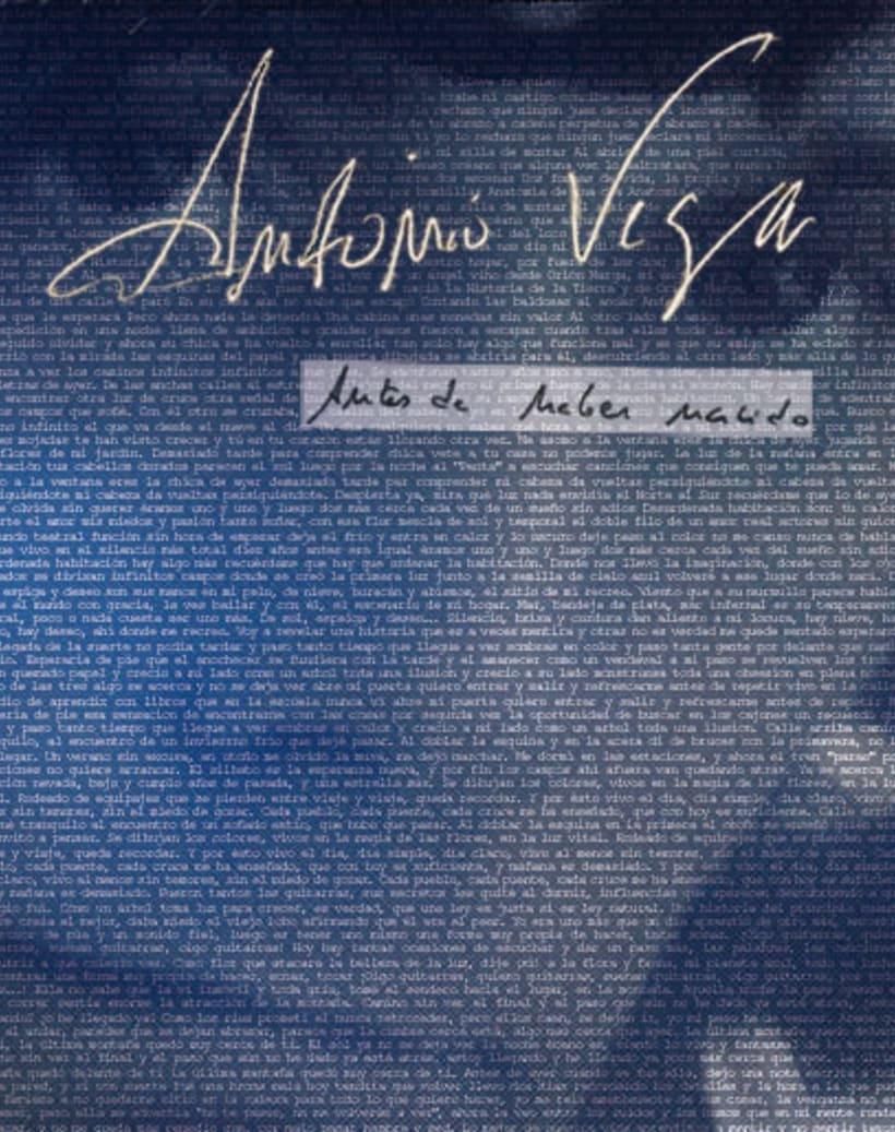 portada ANTONIO VEGA - Antes de haber nacido 1