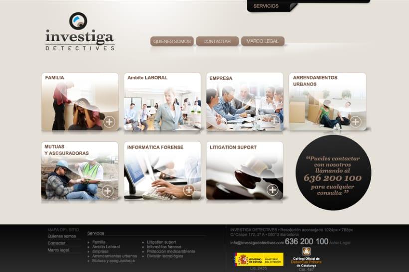 Desarrollo web para agencia de detectives. 1