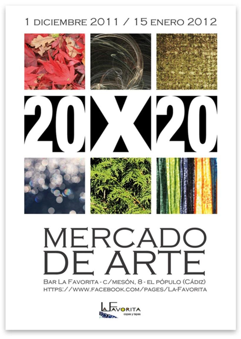 La Favorita: Cartel Mercado de Arte 20 x 20 2
