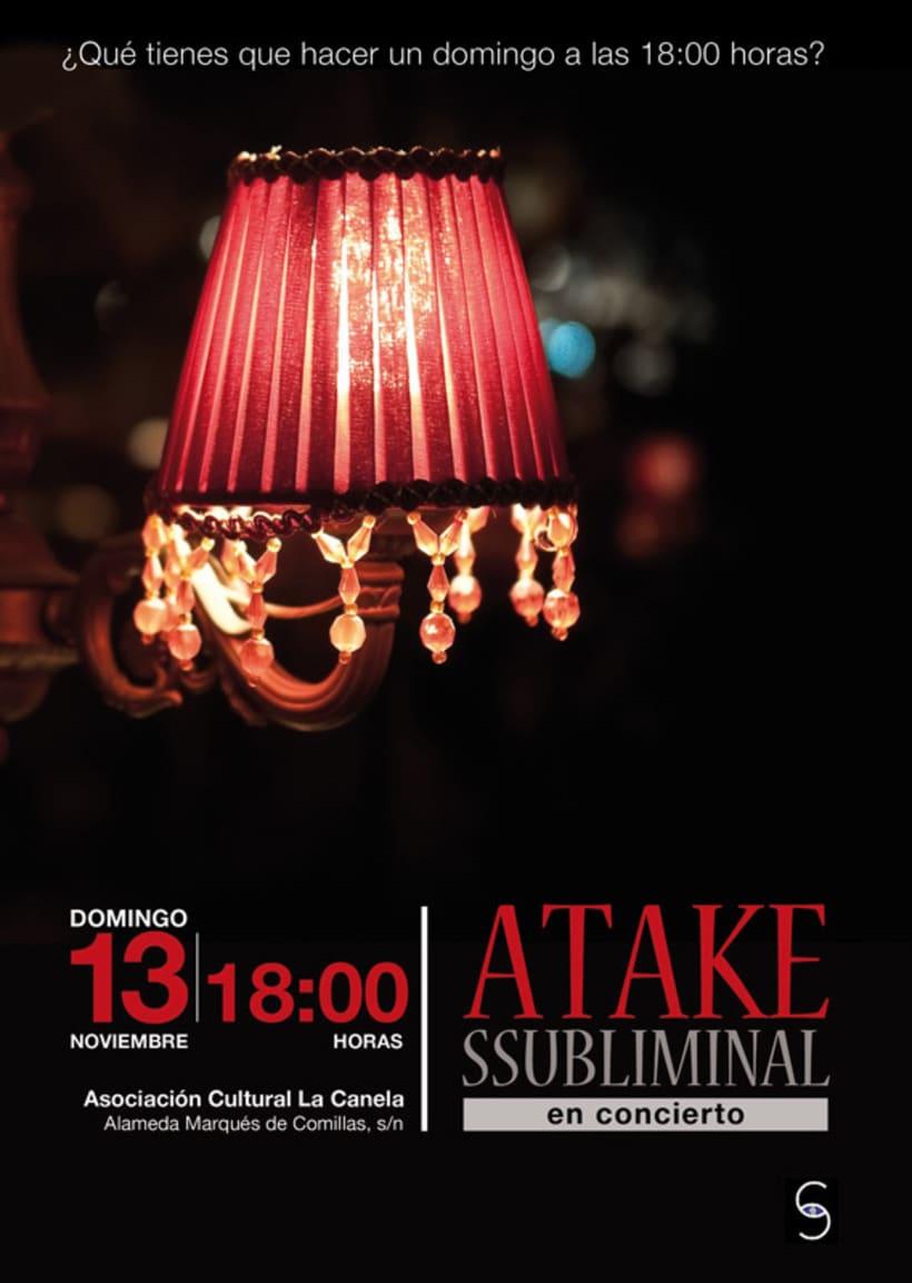 Atake Subliminal: Cartel concierto La Canela (Cádiz) 2