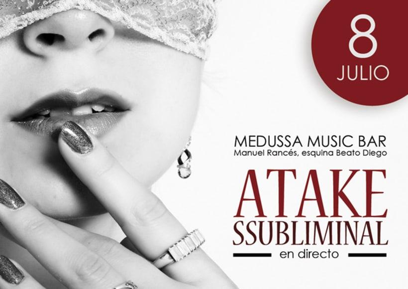 Atake Subliminal: Cartel concierto Sala Medussa (Cádiz) 4