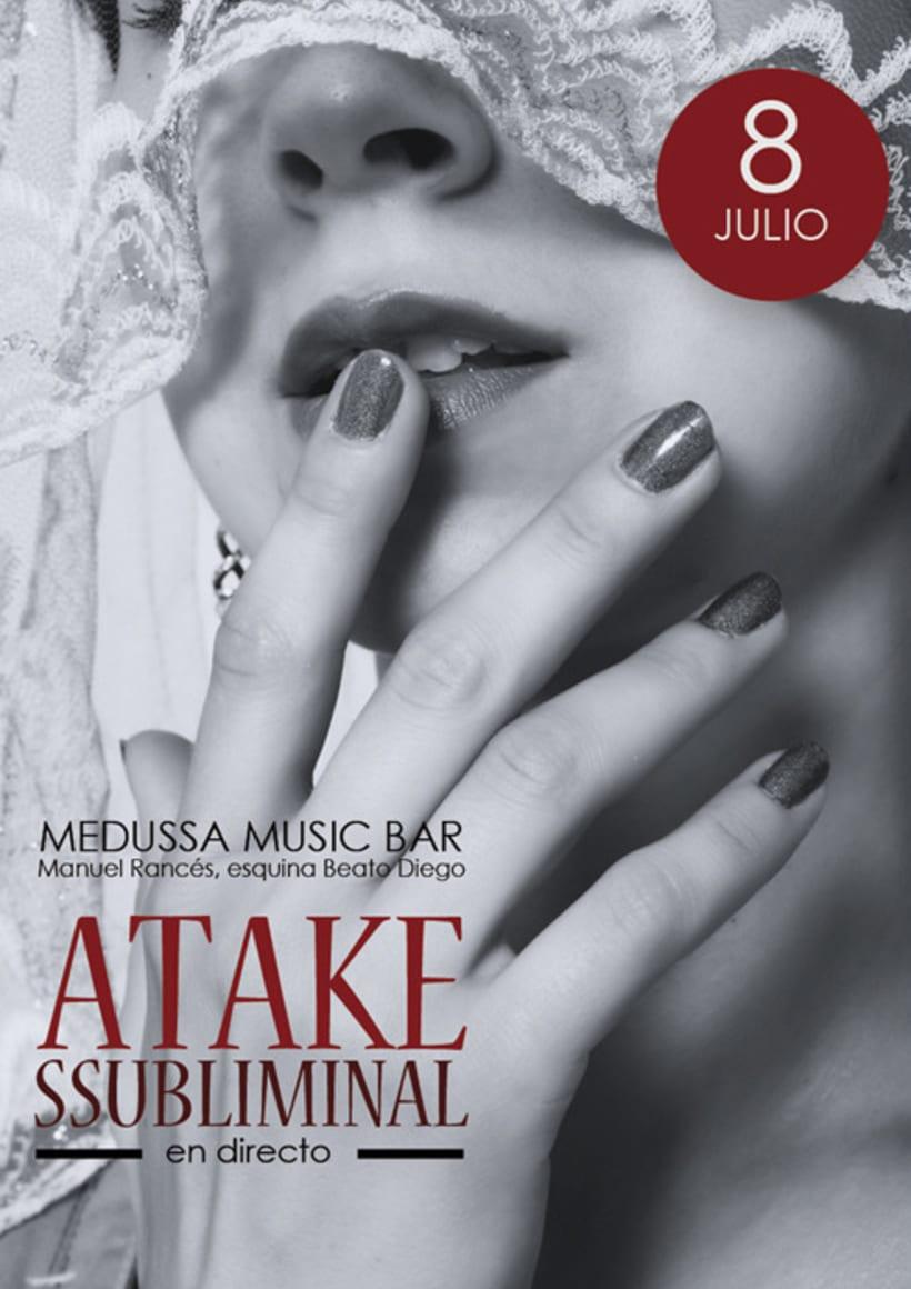Atake Subliminal: Cartel concierto Sala Medussa (Cádiz) 2