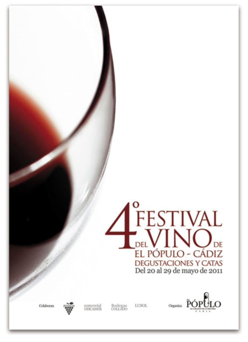 Festival del Vino de El Pópulo: Cartel 4ª edición 2