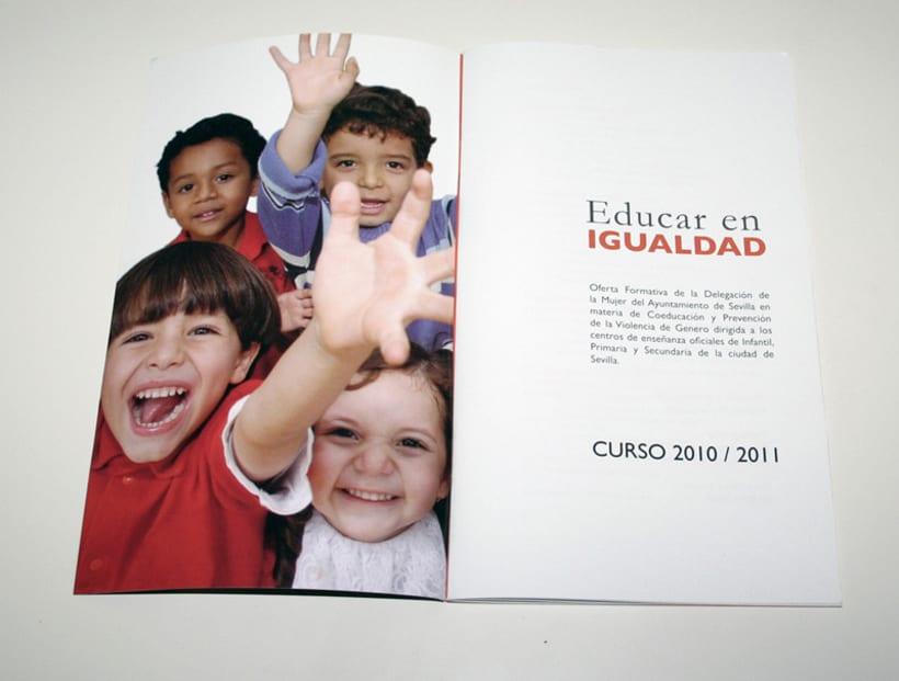 Educar en igualdad. Curso 2010/2011: diseño editorial 5