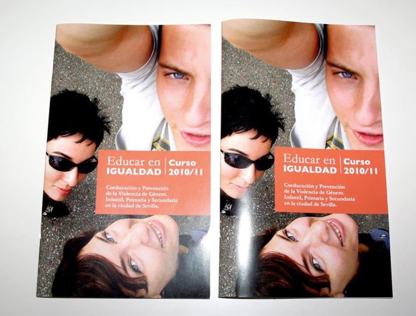 Educar en igualdad. Curso 2010/2011: diseño editorial 3