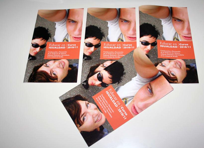 Educar en igualdad. Curso 2010/2011: diseño editorial 2