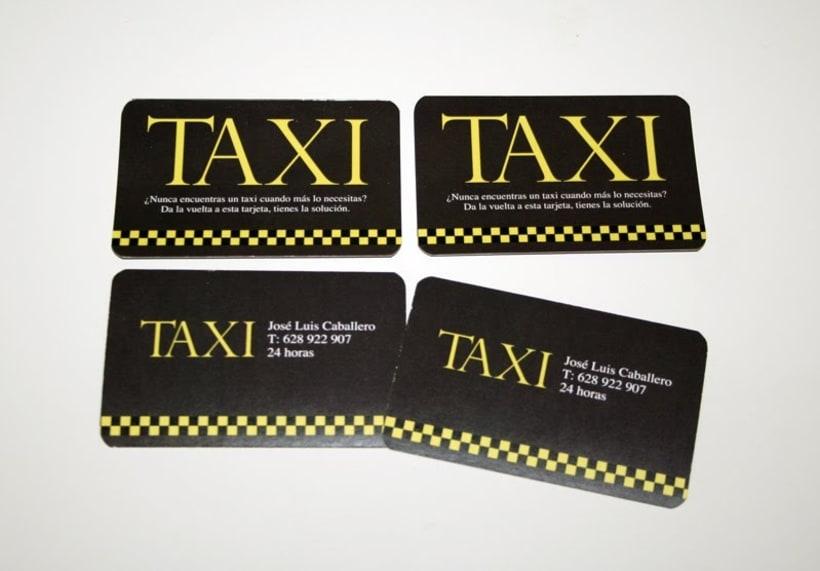Tarjetas personales para taxista 3