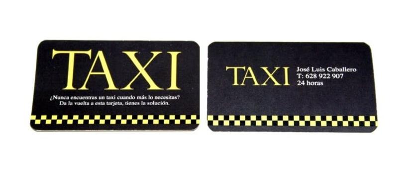 Tarjetas personales para taxista 2