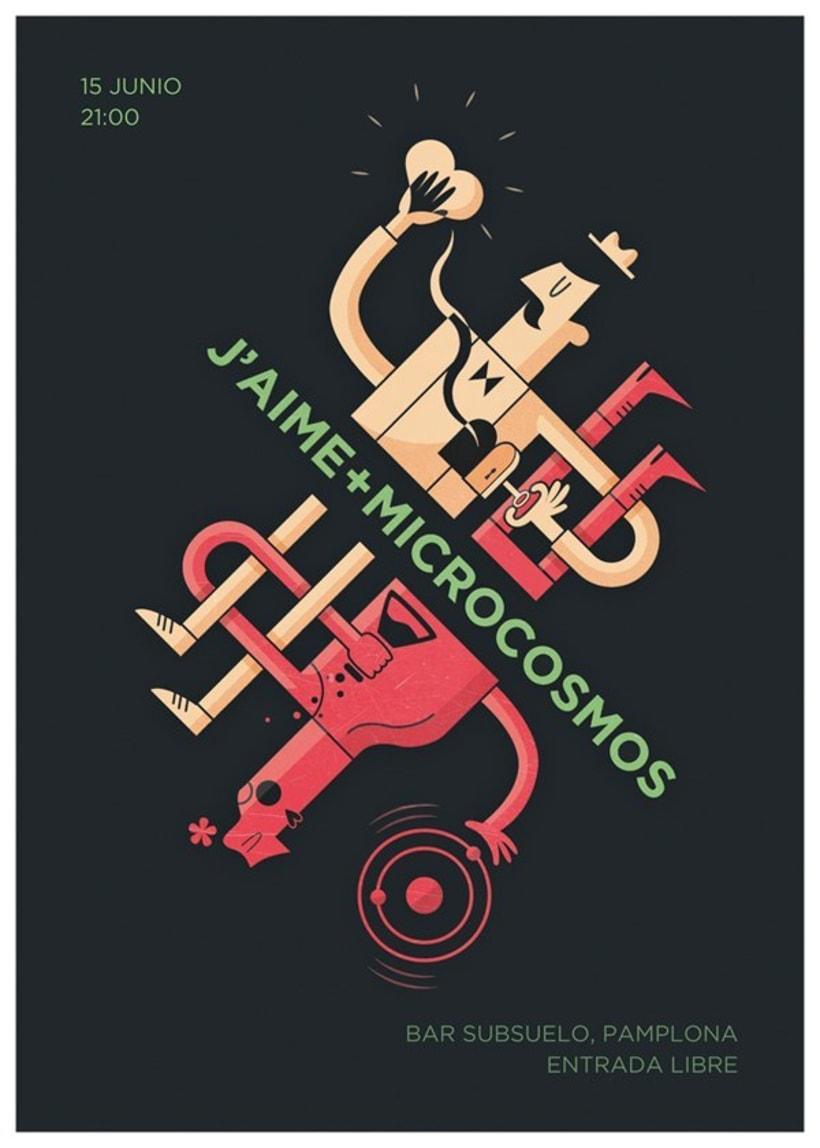 Cartel para J'Aime + Microcosmos 1