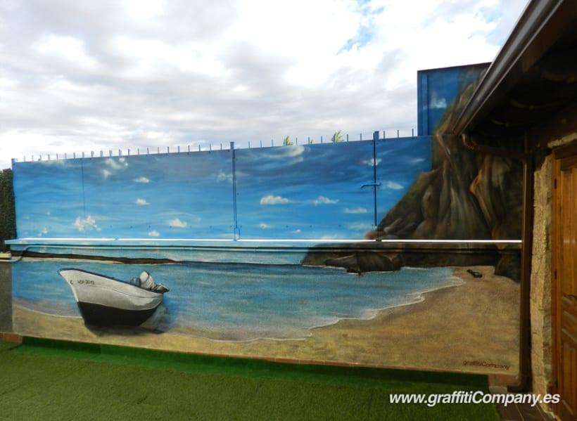 Mural de playa 2