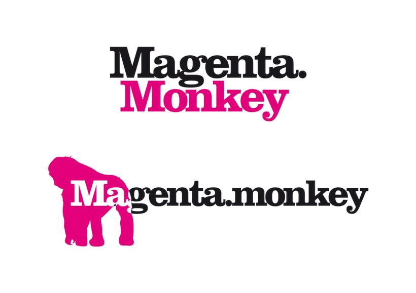 Propuestas logo Magenta Monkey 1