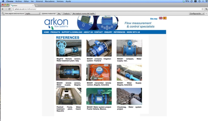 Diseño web Arkon Flow Systems 4