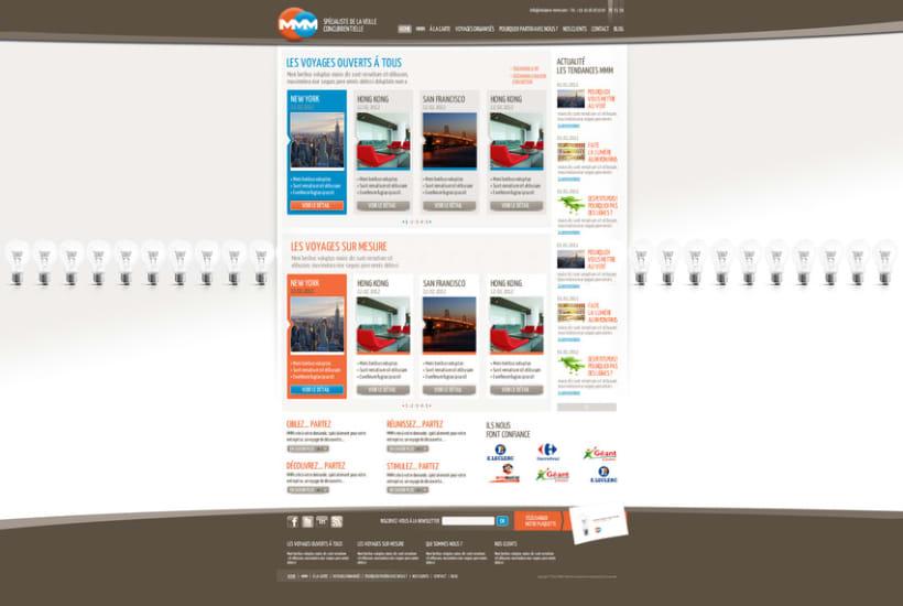 Direction Artistique de la page web de MMM 2