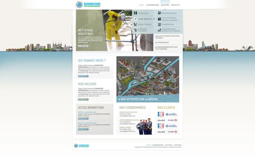 Direction Artistique de la page web De JB Bonnefond 2