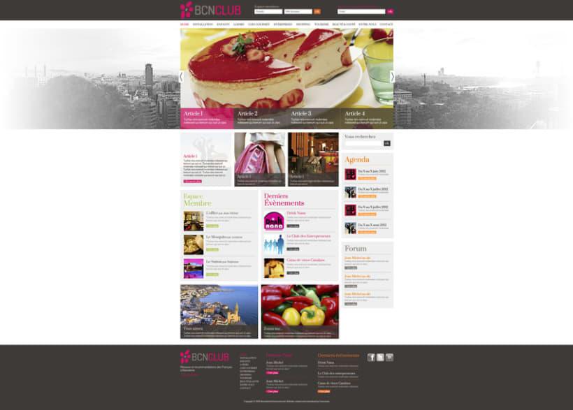 Direction Artistique de la page web de BCNClub 4