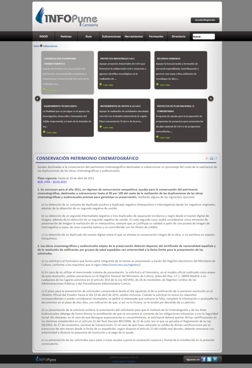 Página web InfoPyme 11