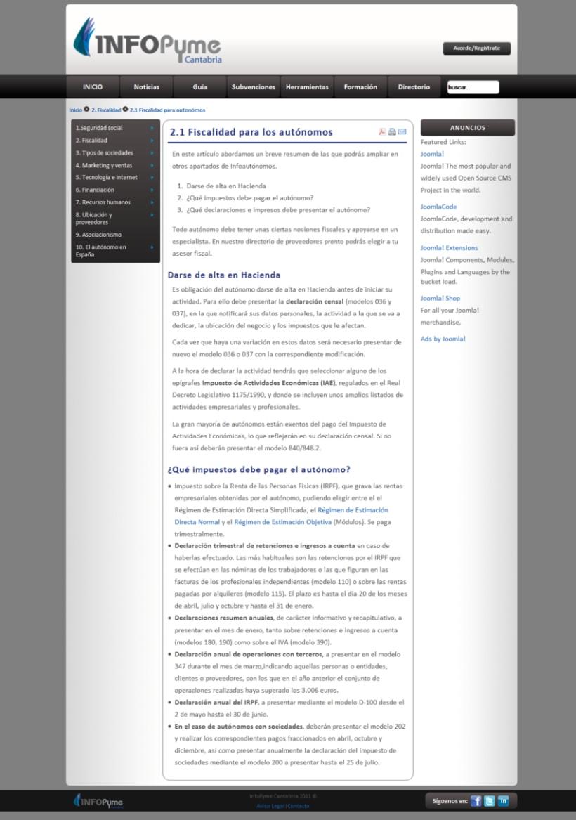 Página web InfoPyme 10