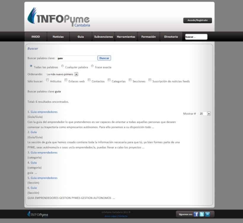 Página web InfoPyme 15