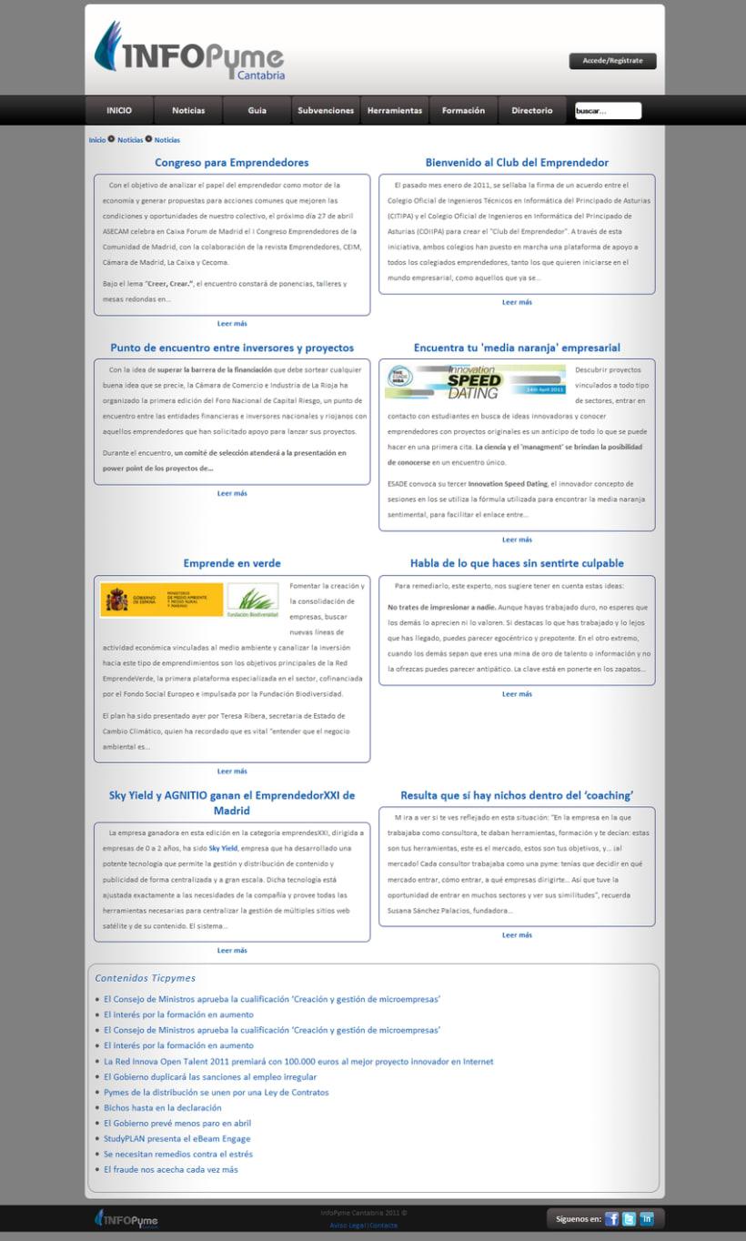 Página web InfoPyme 9